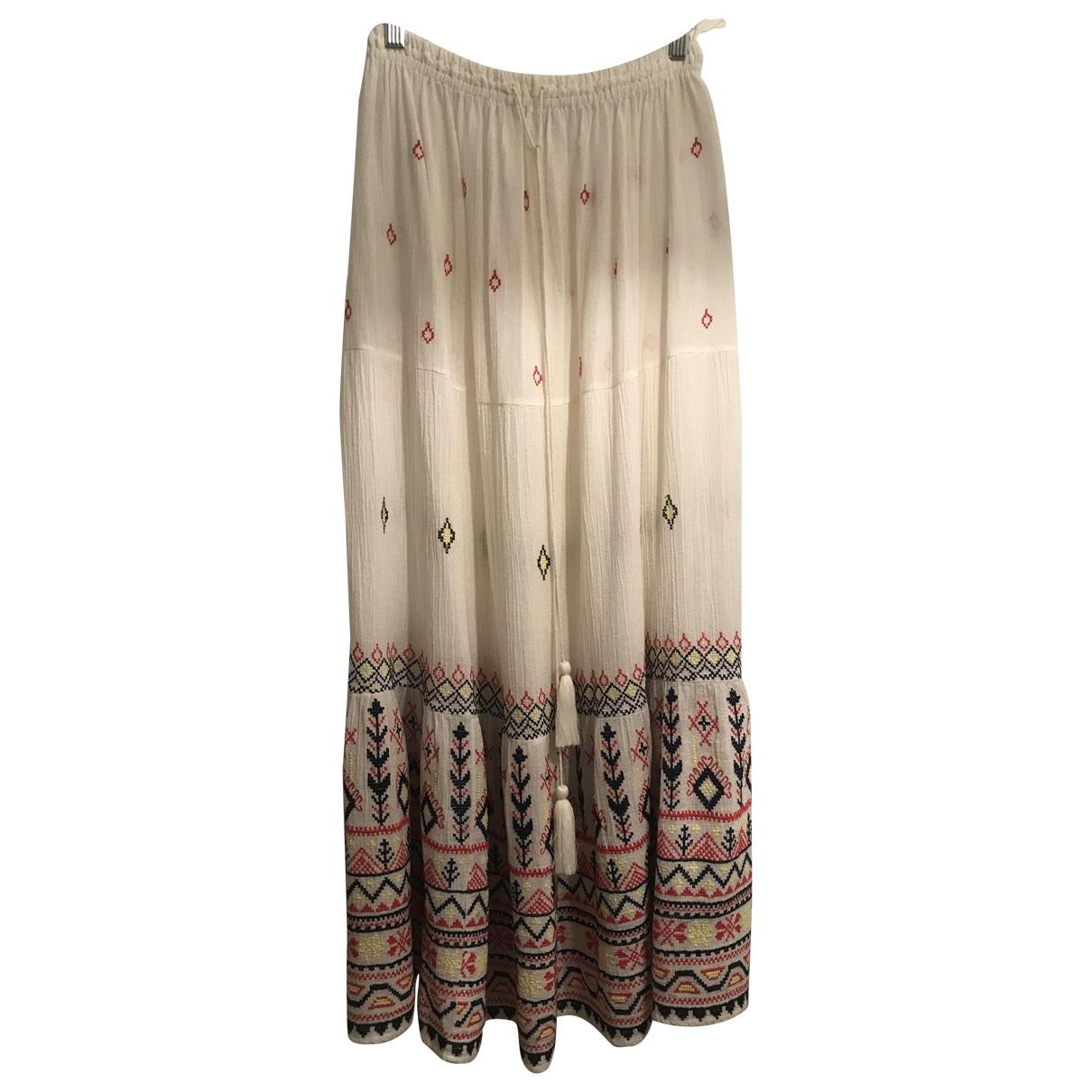 Star Mela \N White Cotton skirt for Women S International