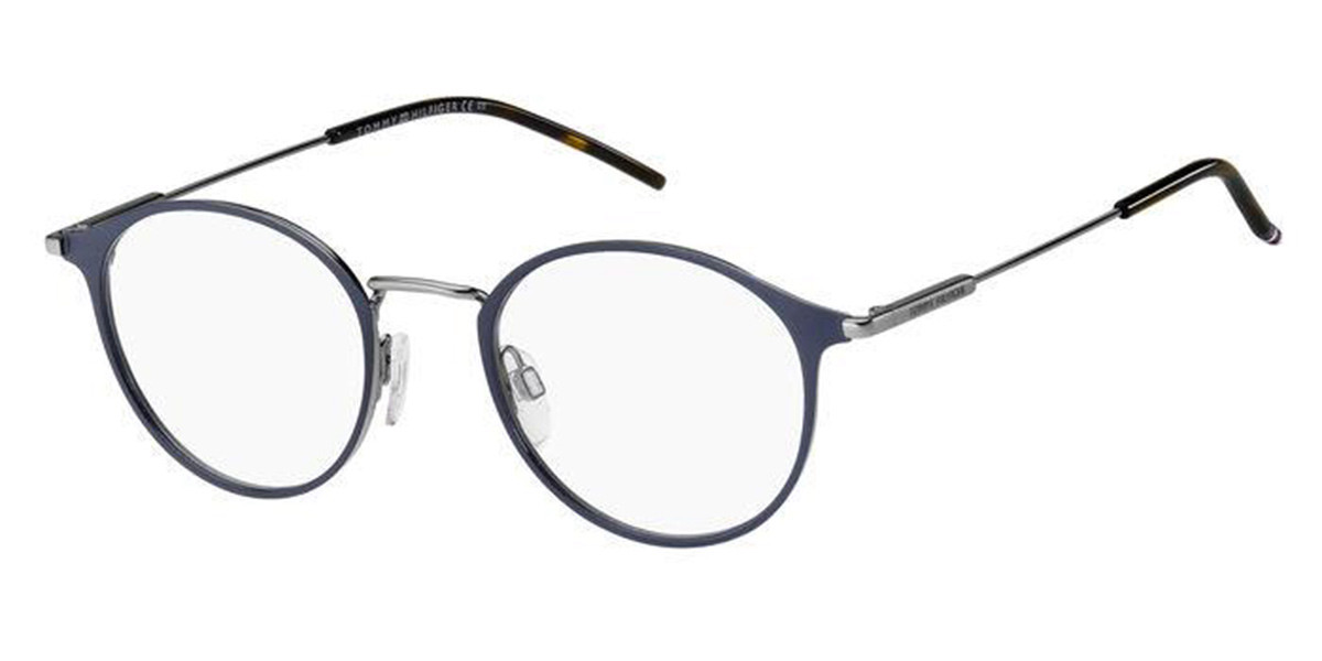 Tommy Hilfiger TH 1771 FLL Men's Glasses Blue Size 49 - Free Lenses - HSA/FSA Insurance - Blue Light Block Available