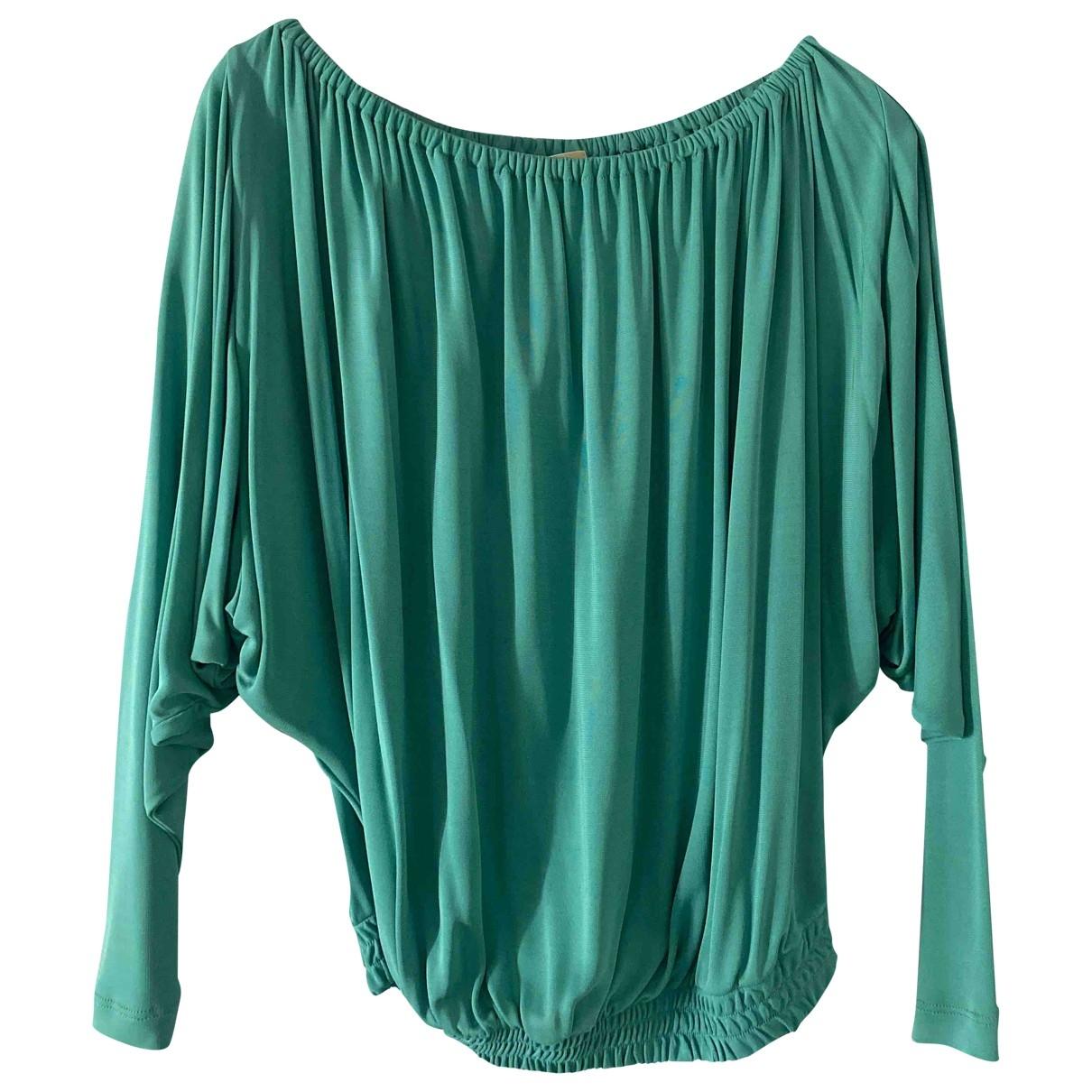 Michael Kors - Top   pour femme en coton - turquoise