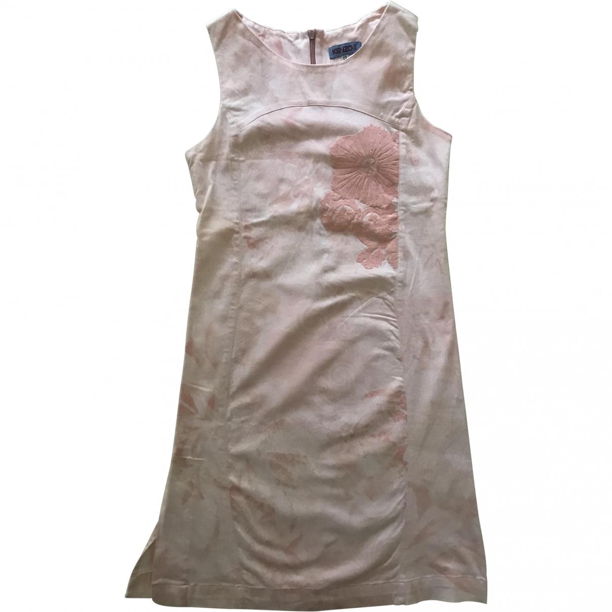 Kenzo - Robe    pour enfant en coton - elasthane - rose