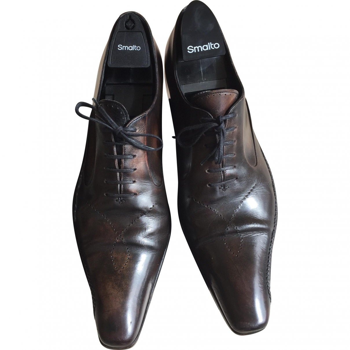 Francesco Smalto \N Brown Leather Lace ups for Men 43 EU