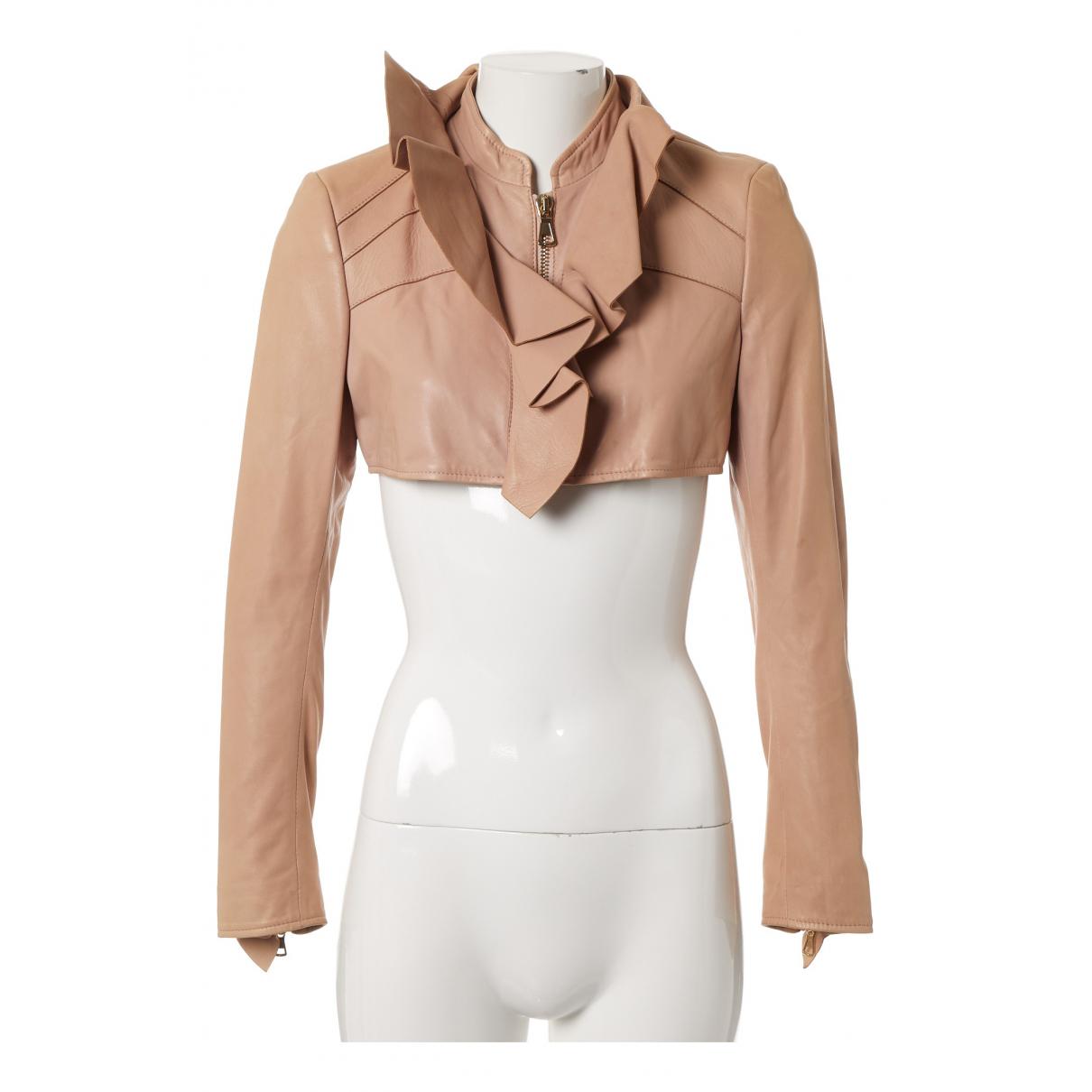 Valentino Garavani - Veste   pour femme en cuir - rose