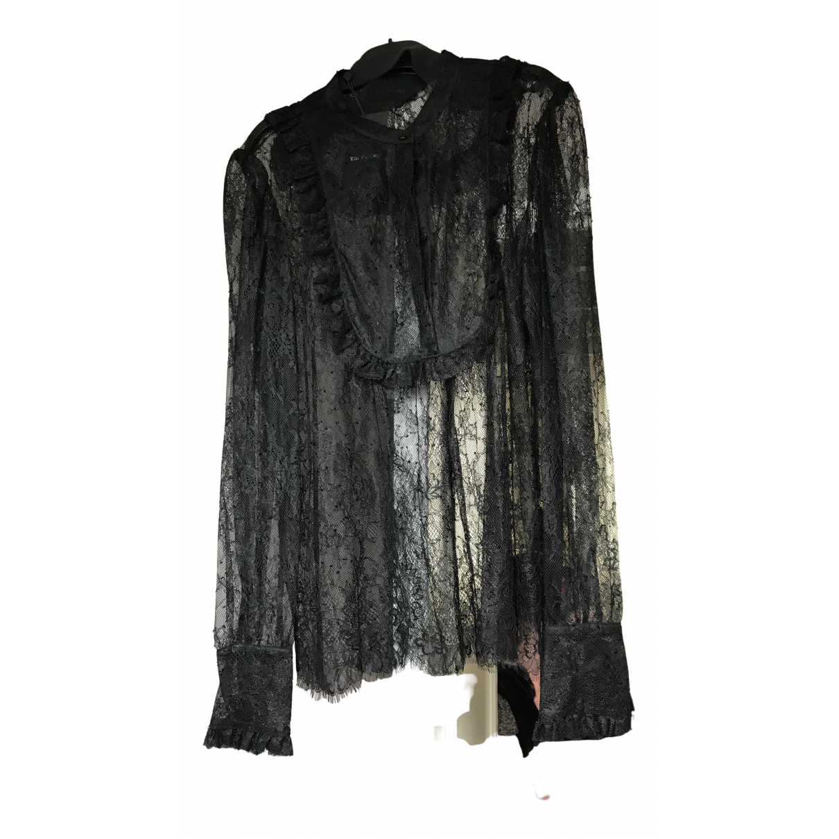 The Kooples \N Black Lace  top for Women 42 FR