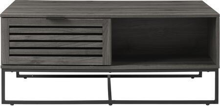AF42JACCTSG 42 Modern Slat Door Coffee Table in Slate