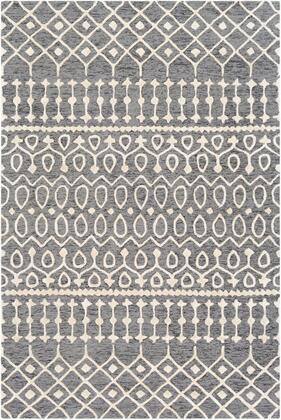 OPS2301-46 4' x 6' Rug  in Light Gray and Black and Charcoal and