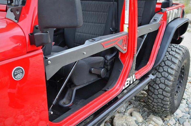 Full Metal Fabworks FMF-JKZSD-FRC-PC  Black ZSR Front & Rear Door Combo Set Jeep Wrangler JK 07-18