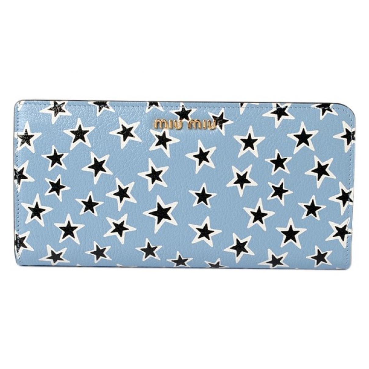 Miu Miu \N Blue Leather wallet for Women \N