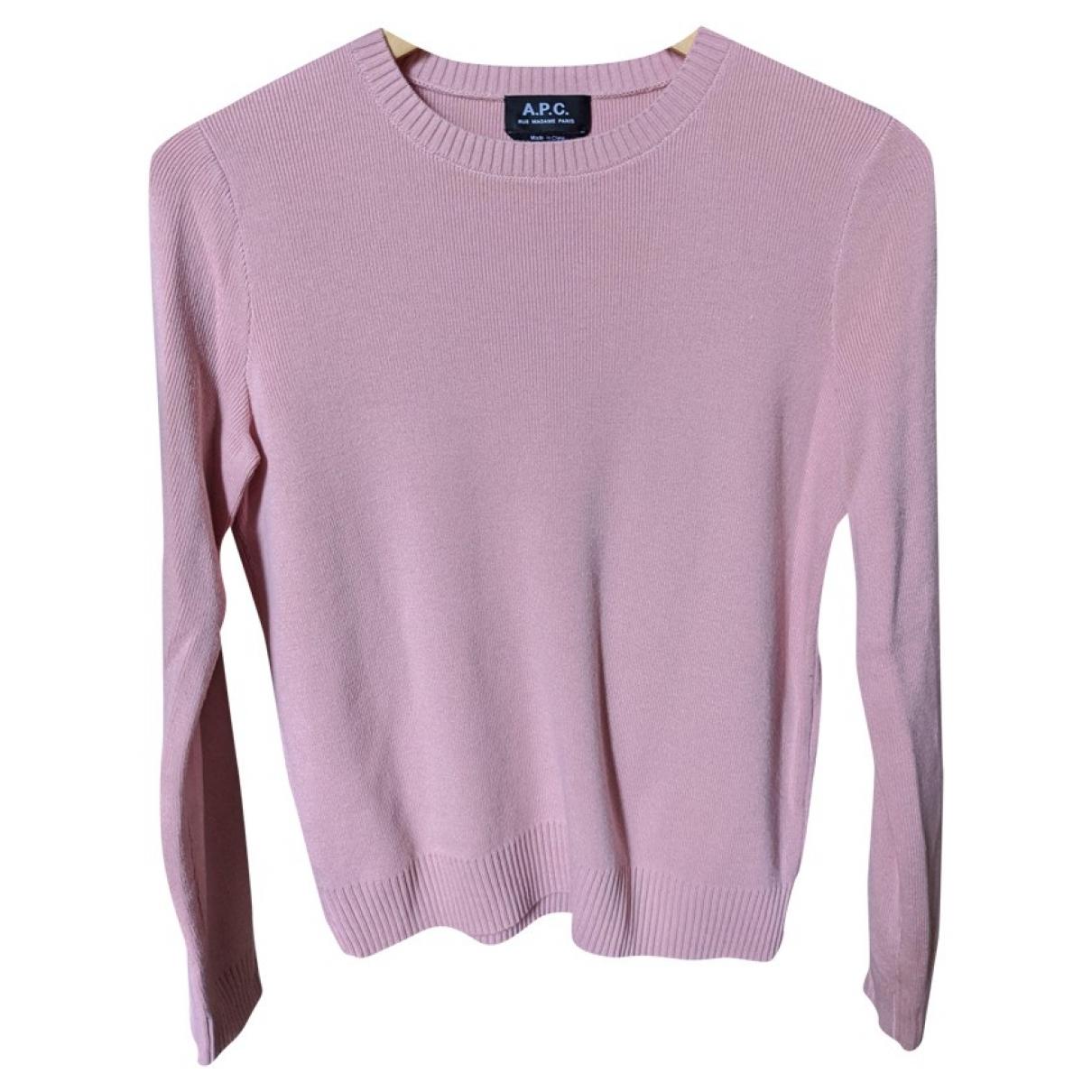 Apc - Pull   pour femme en coton - rose