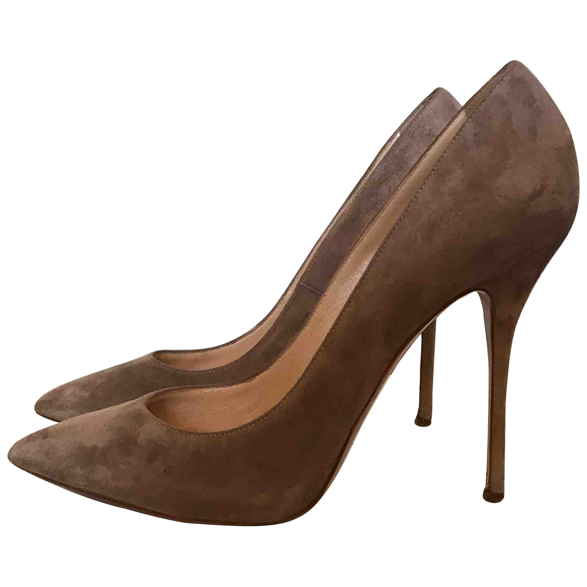 Casadei \N Beige Suede Heels for Women 9 US