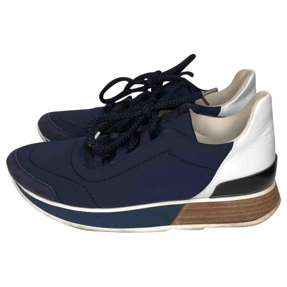 Hermes Miles Sneakers in  Marine Leinen