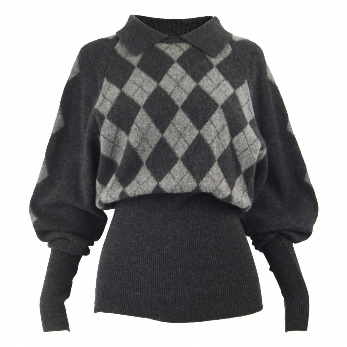 Non Signé / Unsigned \N Grey Wool Knitwear for Women M International