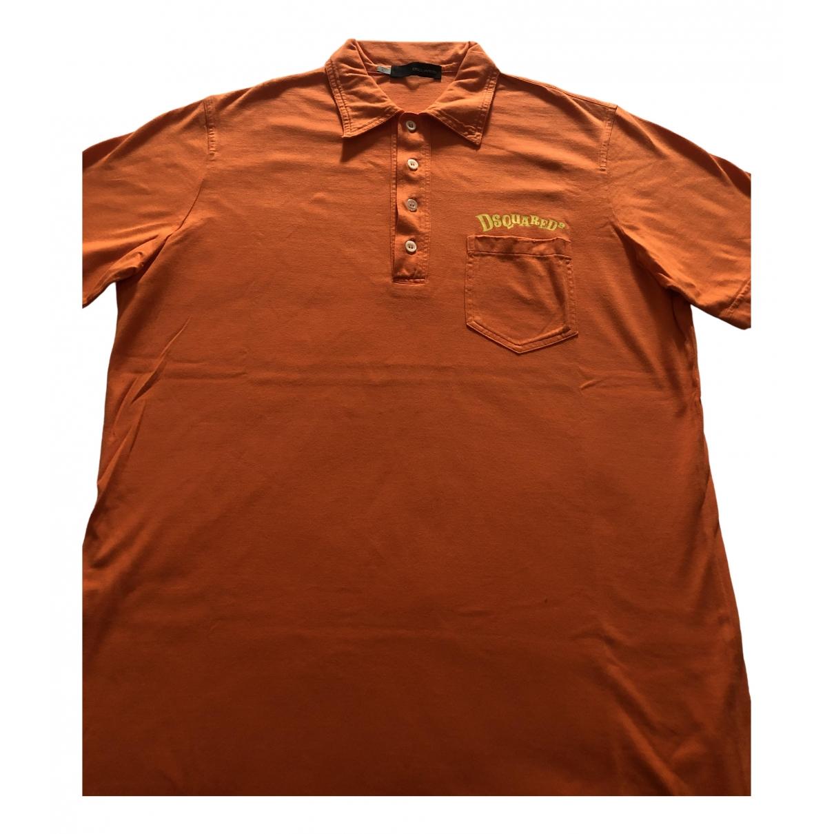 Dsquared2 - Polos   pour homme en coton - orange