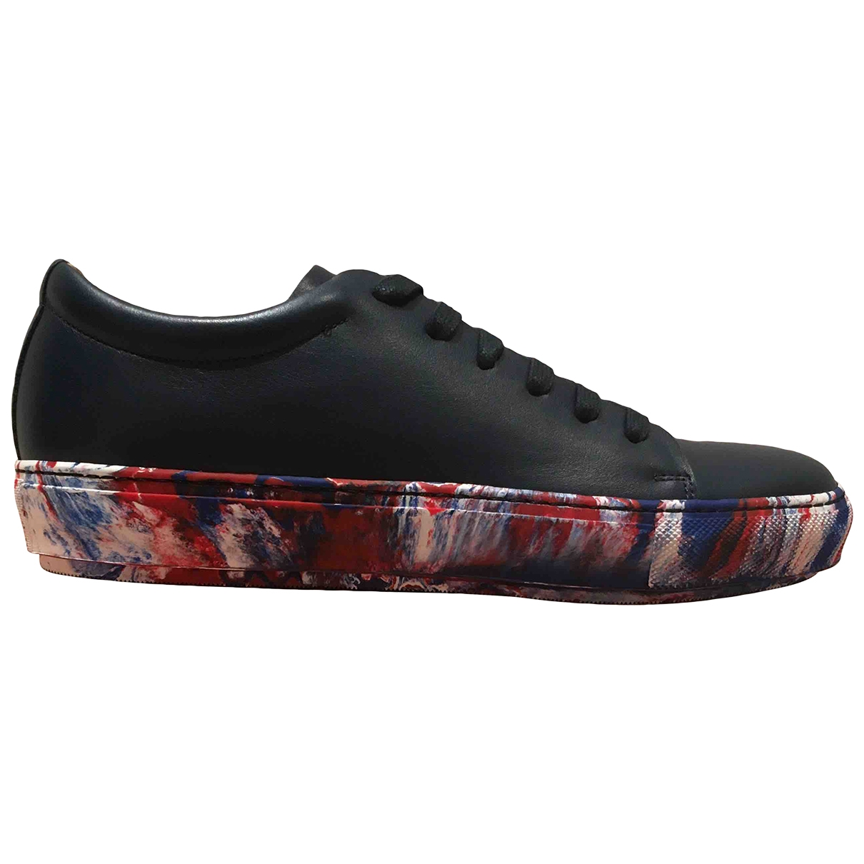 Acne Studios \N Navy Leather Trainers for Men 40 EU