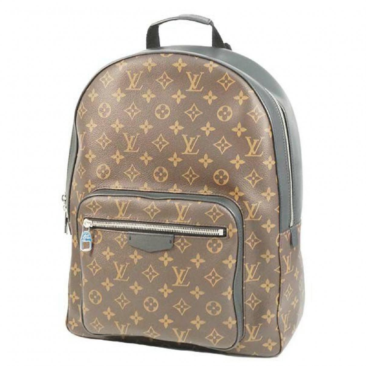 Louis Vuitton - Sac a dos   pour femme en cuir - marron