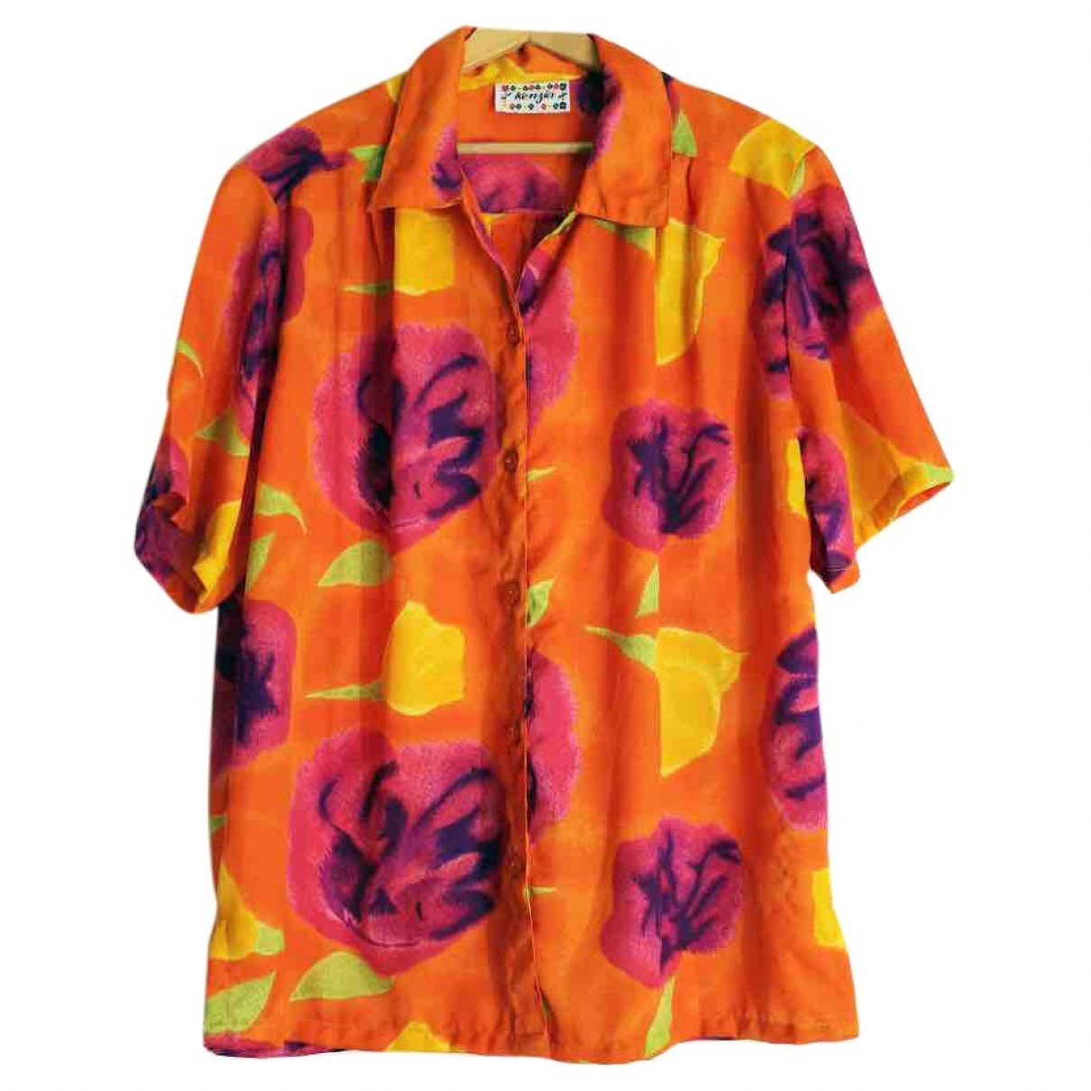 Non Signé / Unsigned Oversize Orange  top for Women One Size IT