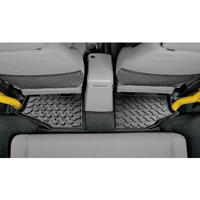 Bestop Rear Floor Liners (Black) - 51510-01