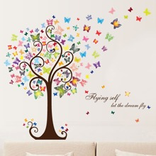 Kids Butterfly Print Wall Sticker