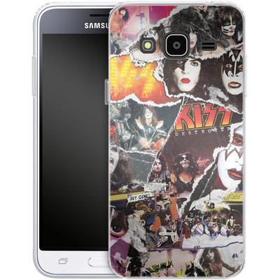 Samsung Galaxy J3 (2016) Silikon Handyhuelle - KISS Collage von KISS®