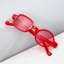 Men Geo Frame Tinted Lens Sunglasses