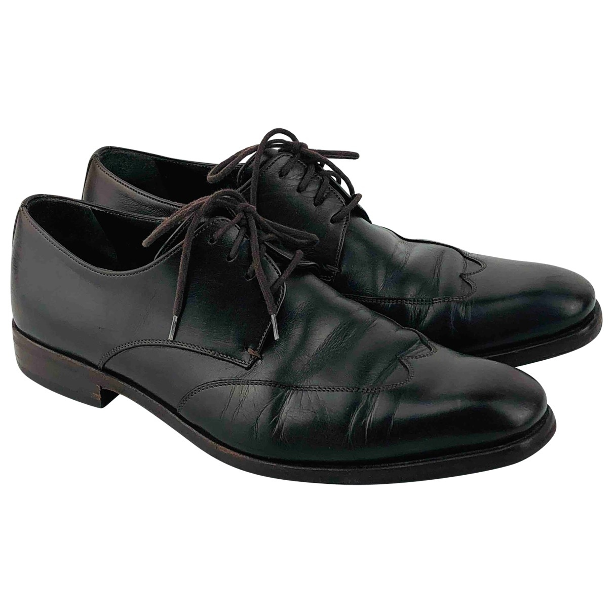 Gucci \N Brown Leather Lace ups for Men 41.5 EU