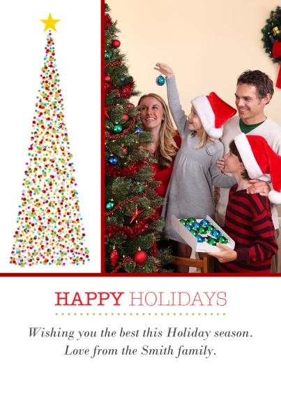 Holiday Photo Cards 5x7 Cards, Standard Cardstock 85lb, Card & Stationery -Dazzling Tree