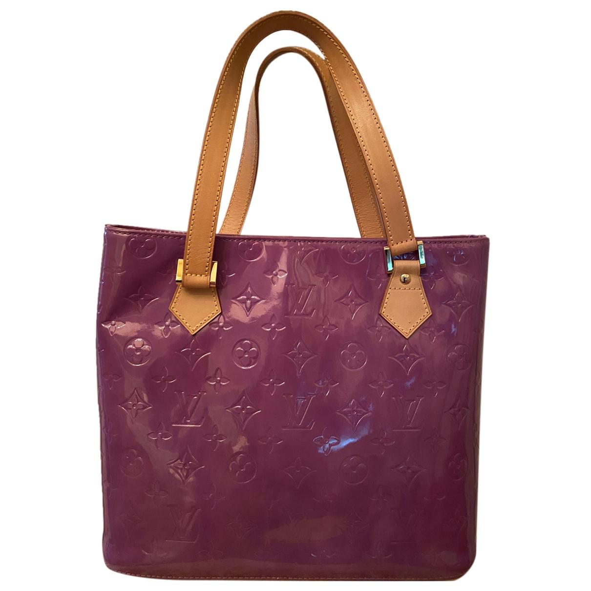 Louis Vuitton Houston Purple Patent leather handbag for Women \N