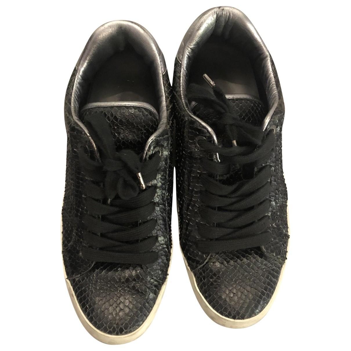 Zadig & Voltaire - Baskets   pour femme en cuir exotique - noir