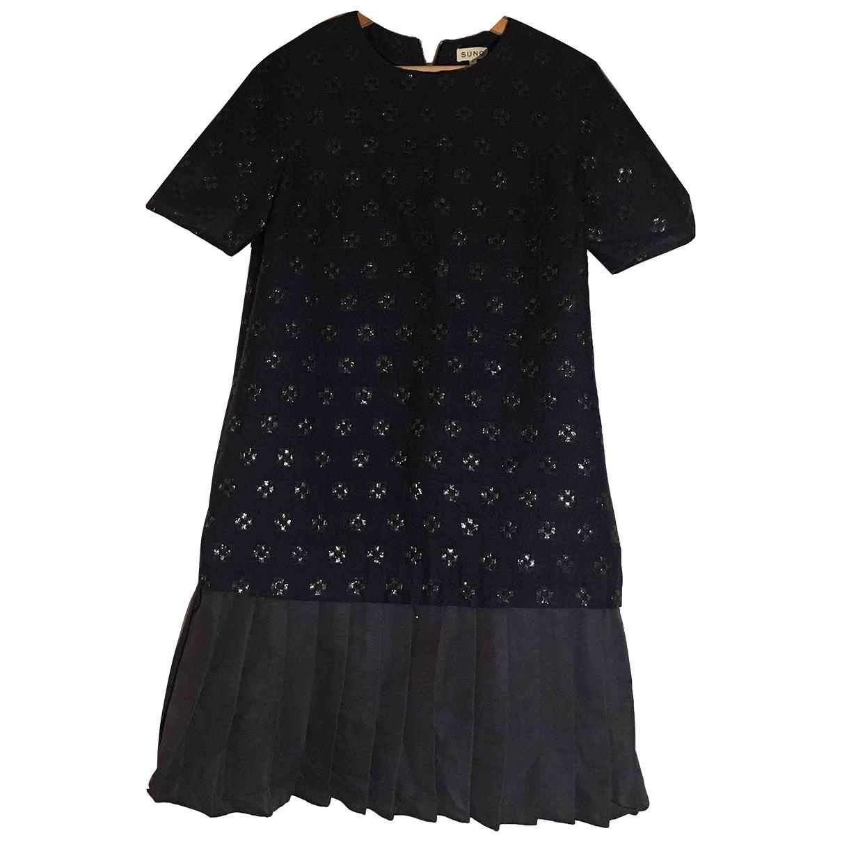 Suno \N Kleid in  Marine Baumwolle
