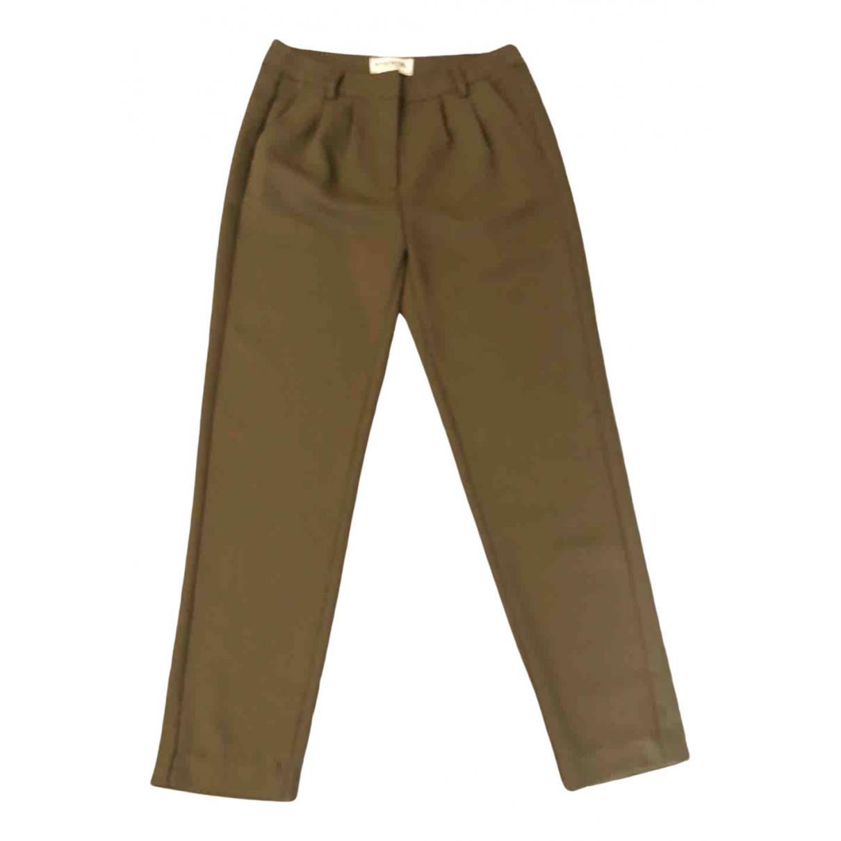 Essentiel Antwerp \N Khaki Trousers for Women 34 FR