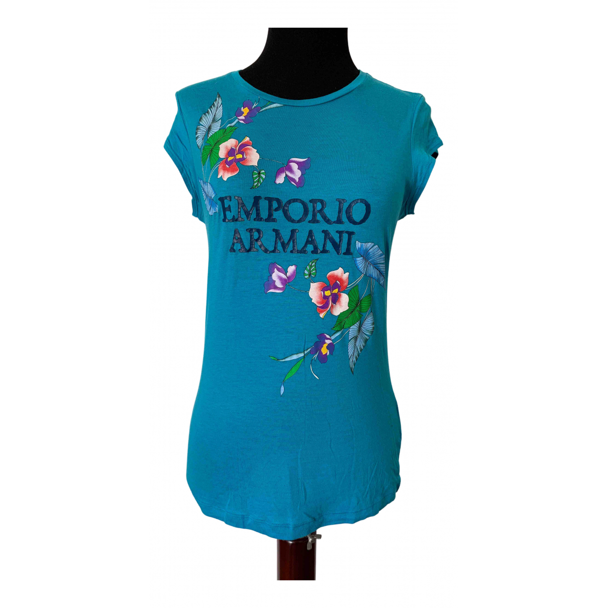 Emporio Armani N Turquoise Cotton  top for Women 42 IT