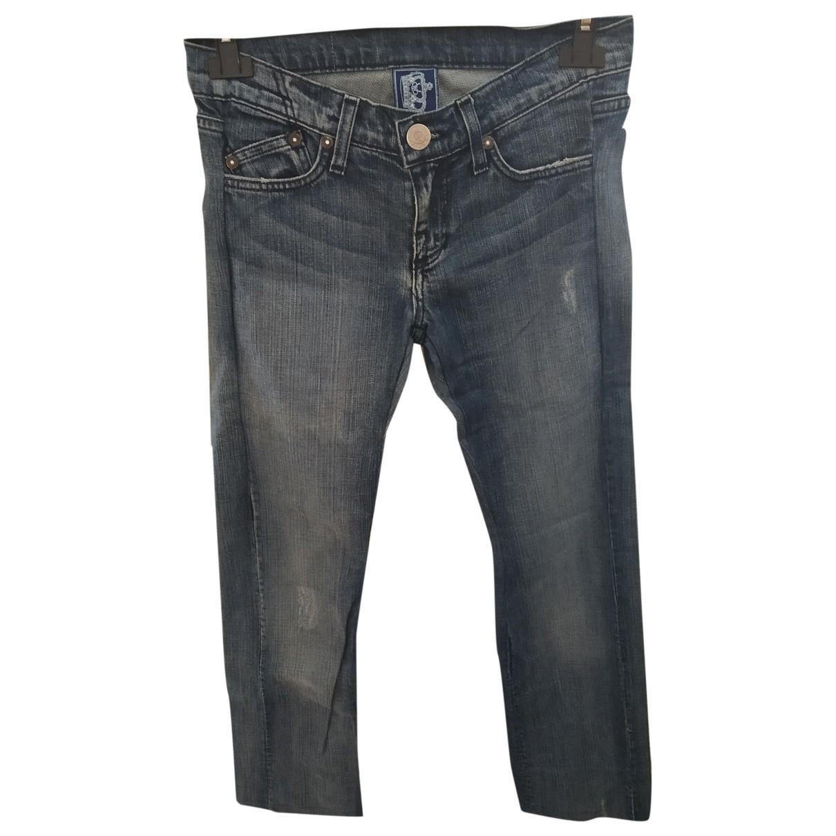 Rock & Republic De Victoria Beckham \N Blue Denim - Jeans Trousers for Women 38 IT