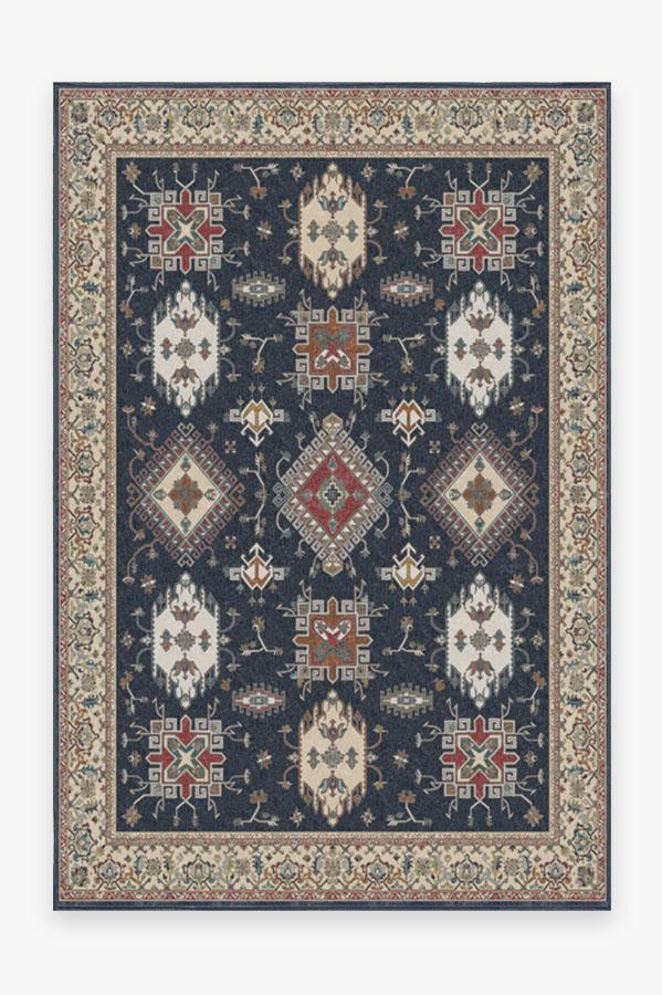 Washable Rug Cover | Ademi Royal Blue Rug | Stain-Resistant | Ruggable | 6'x9'