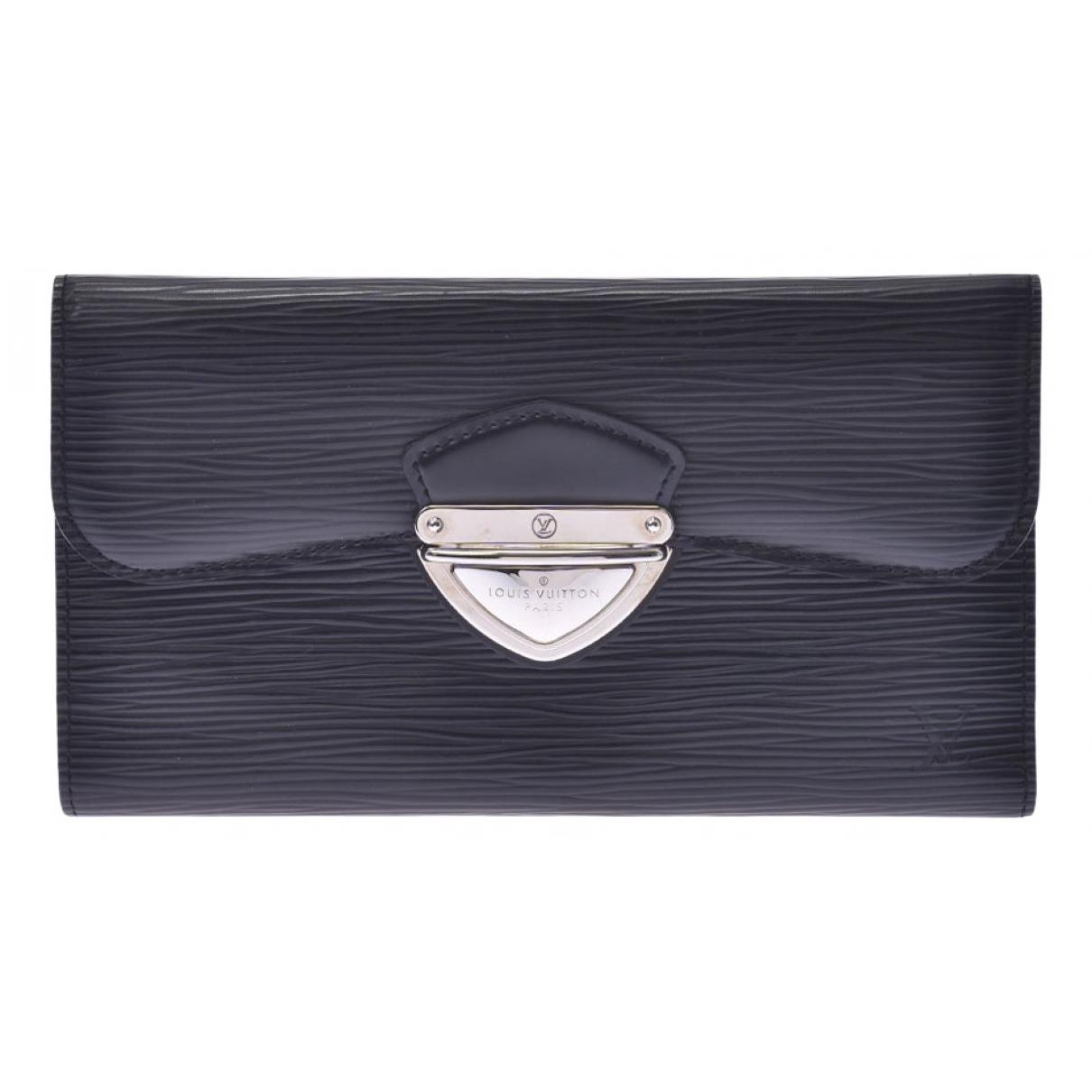 Louis Vuitton - Portefeuille Eugenie pour femme en cuir - noir
