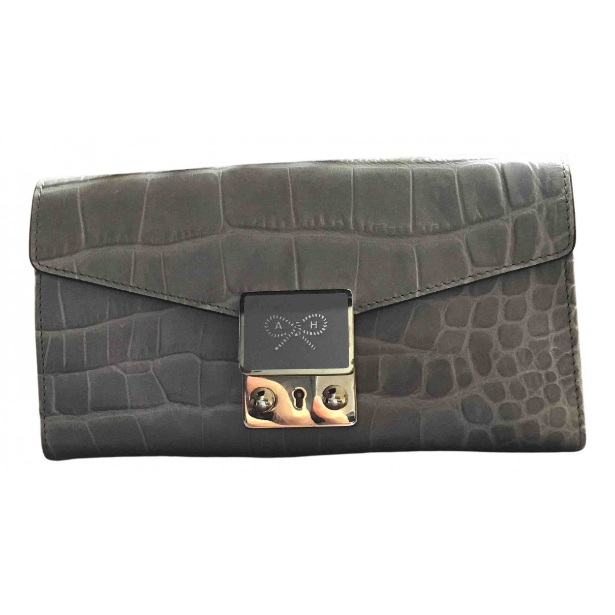 Anya Hindmarch \N Grey Leather Purses, wallet & cases for Women \N