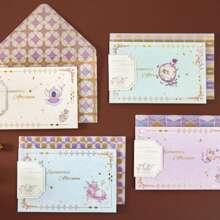 1 Blatt zufaellige Hot Stamping Grusskarte & Umschlag