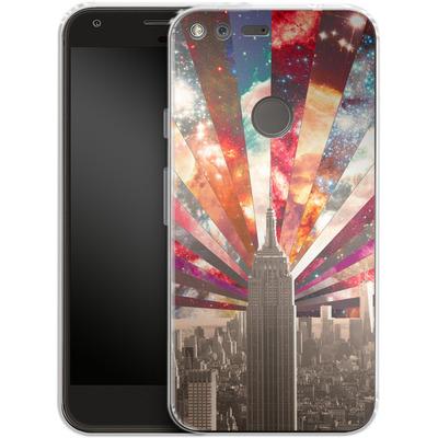 Google Pixel XL Silikon Handyhuelle - Superstar New York von Bianca Green