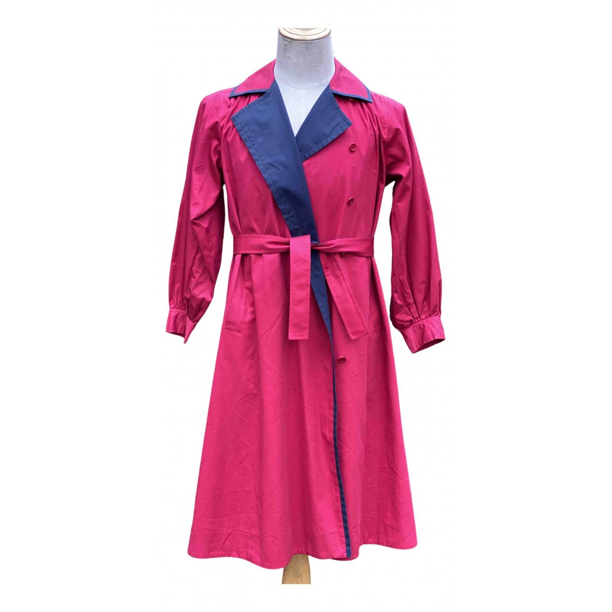 Yves Saint Laurent - Manteau   pour femme en coton - rouge