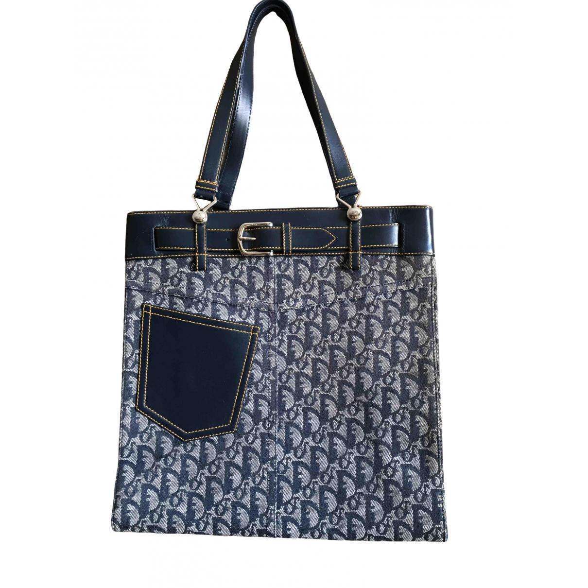 Dior \N Blue Cotton handbag for Women \N