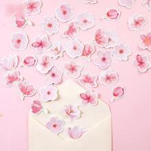 46 Stuecke Aufkleber mit Kirschblueten Muster