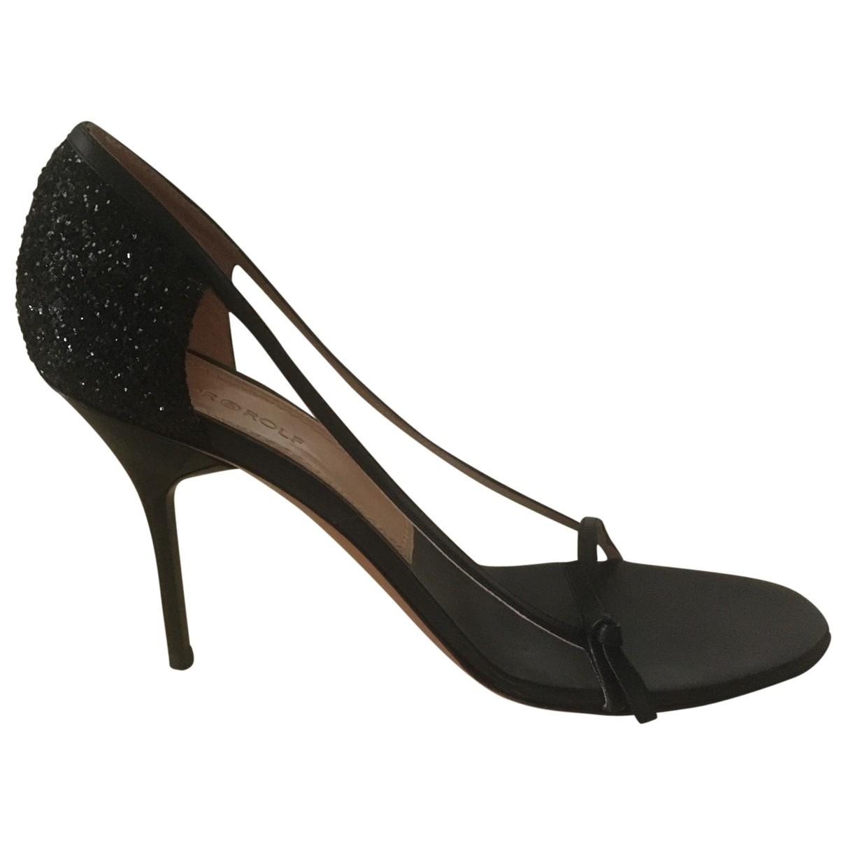 Viktor & Rolf - Sandales   pour femme en cuir - noir