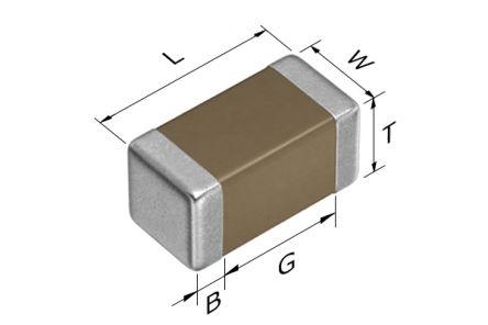 TDK 0201 (0603M) 2.2nF Multilayer Ceramic Capacitor MLCC 25V dc ±10% SMD CGA1A2X7R1E222K030BA (15000)