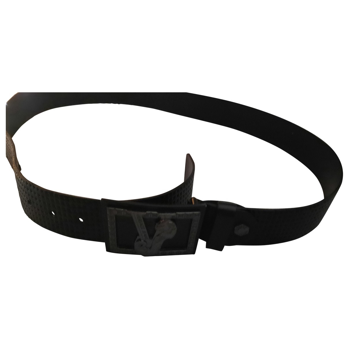 Versace Jeans \N Black Leather belt for Men 80 cm
