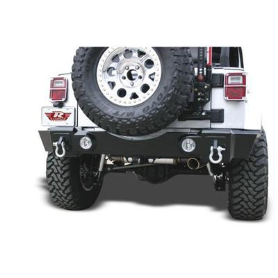 Rampage Recovery Rear Bumper with D-ring and Light Mounts (Black) - 86605