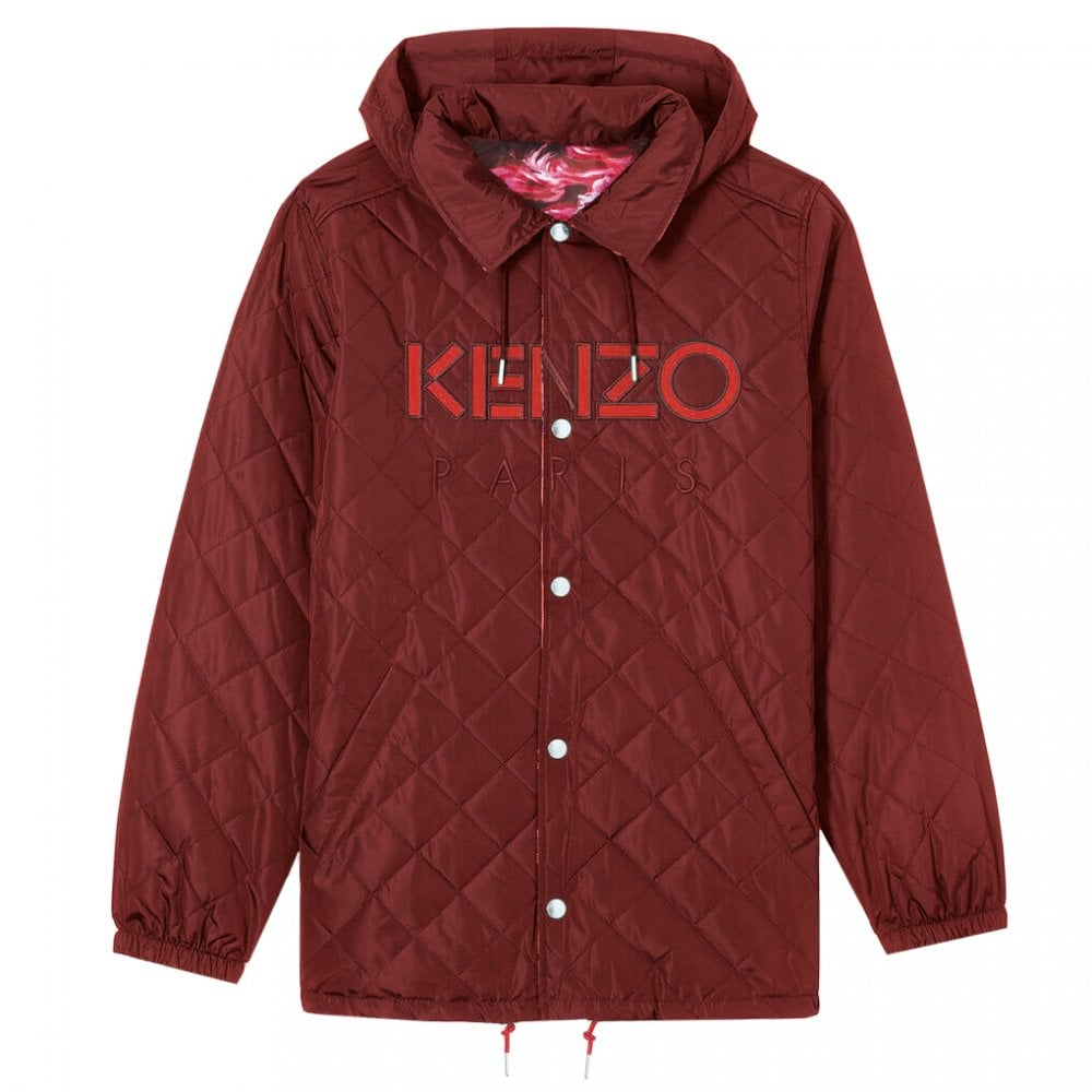 Kenzo Reversible Parka Jacket Colour: RED, Size: SMALL