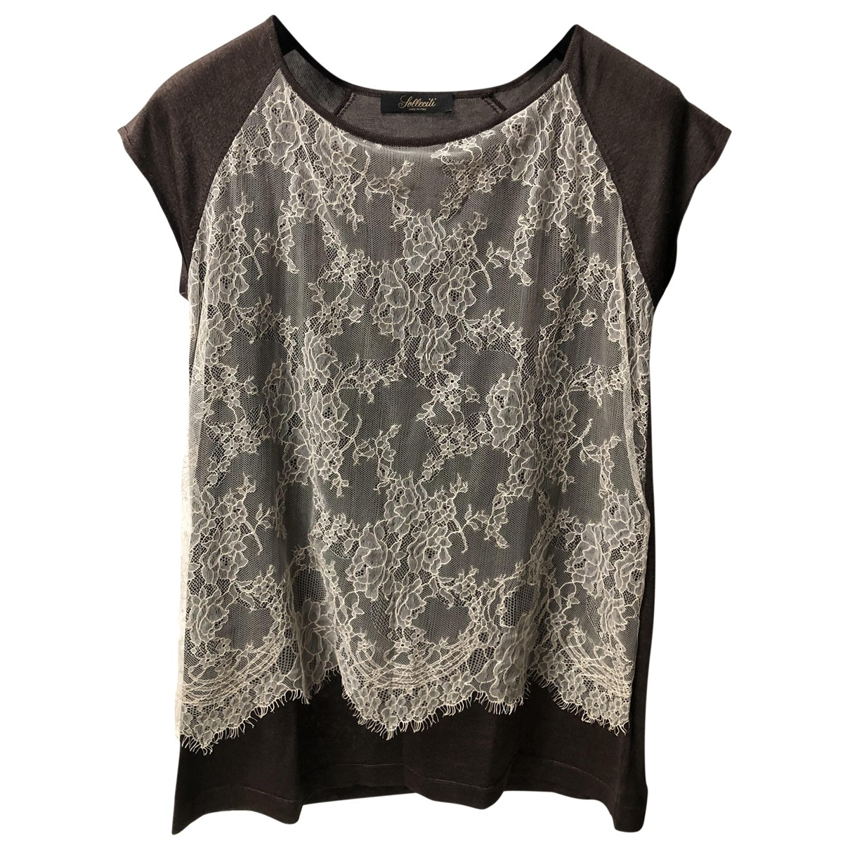 Solleciti \N Brown Silk  top for Women 44 IT
