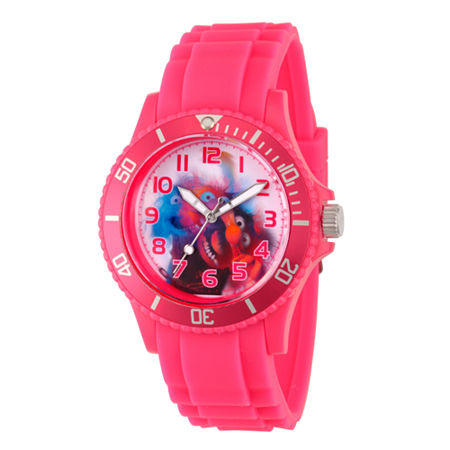 Disney The Muppets Womens Pink Strap Watch-Wds000360, One Size , No Color Family