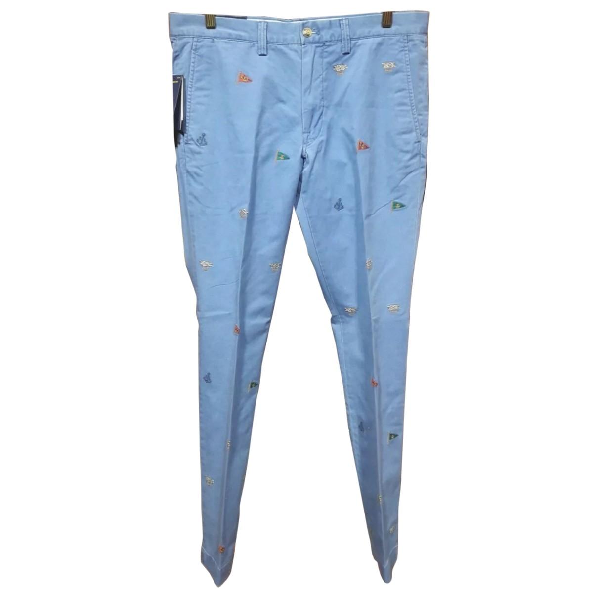 Polo Ralph Lauren \N Blue Cotton Trousers for Men L International
