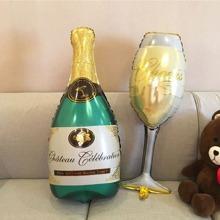 Champagneflasche & Tasse formiger dekorativer Ballon 1 Stueck