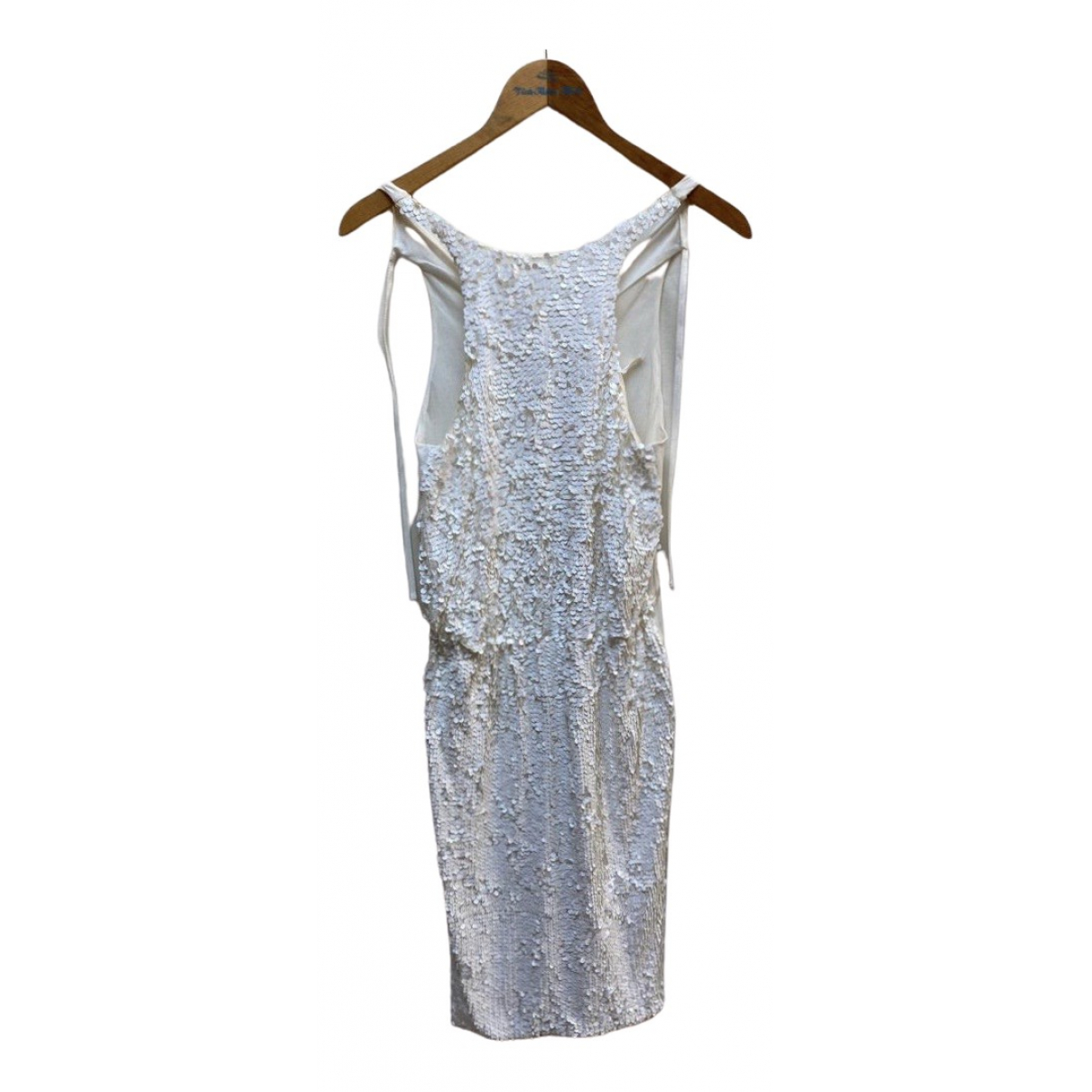 Hache \N Kleid in  Weiss Mit Pailletten