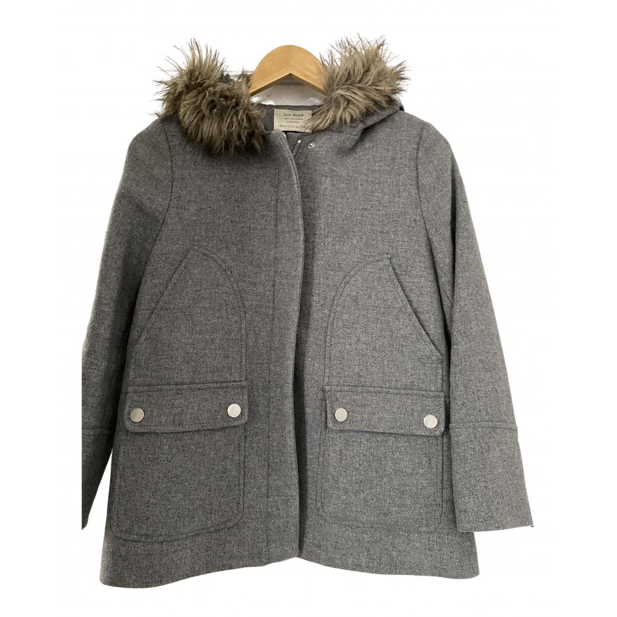 Zara - Blousons.Manteaux   pour enfant en laine - gris